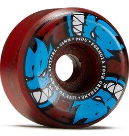 spitfire f4 99 afterburn blue red swirl 53mm wheels