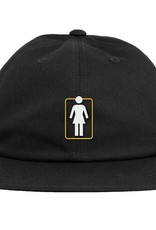 girl girl unboxed 6 panel black hat