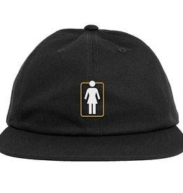 girl girl unboxed 6 panel black hat