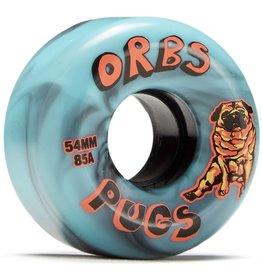 orbs orbs pugs 85a 54mm black blue wheels