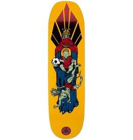 welcome skateboards futbol on moontrimmer 2.0 gold 8.5 deck