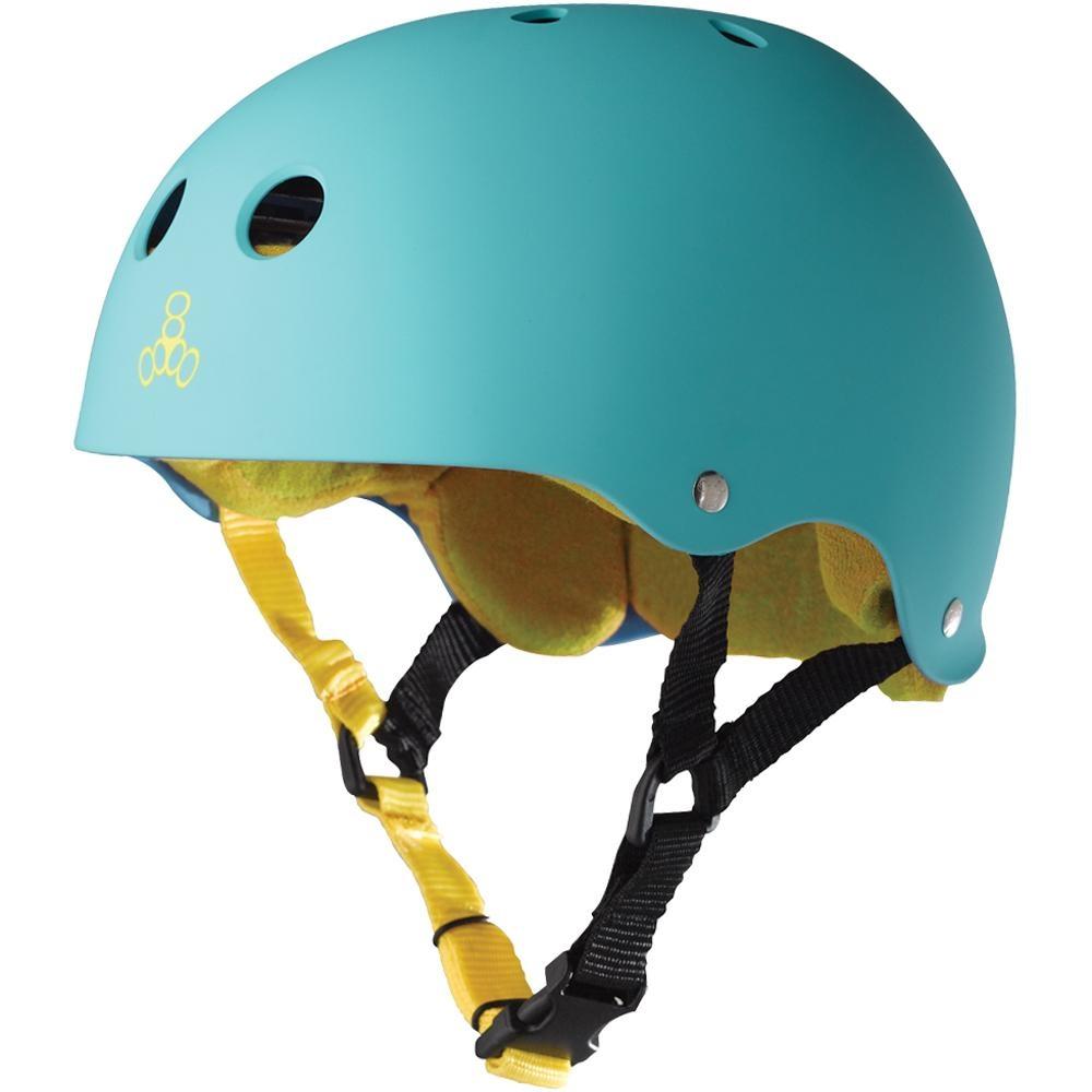 triple 8 triple 8 helmet brainsaver baja teal rubber