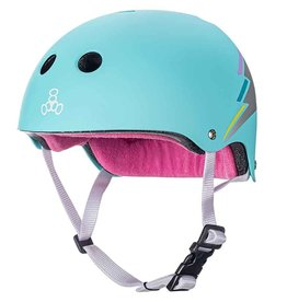 triple 8 triple 8 helmet certified sweatsaver teal hologram