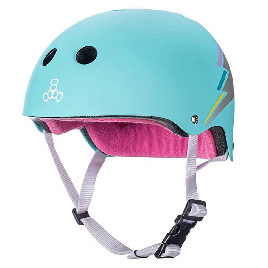 triple 8 triple 8 helmet certified sweatsaver teal hologram