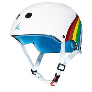 triple 8 triple 8 helmet certified sweatsaver rainbow sparkle white