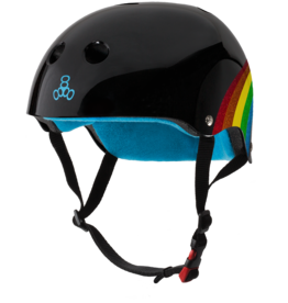 triple 8 triple 8 helmet certified sweatsaver rainbow sparkle black