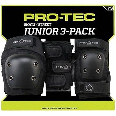 pro tec youth pro tec street pad 3 pack set black