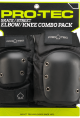 pro tec pro tec street knee elbow black pad set
