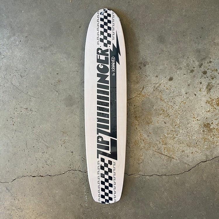 krooked zip ziiiiinger white black 7.7 deck