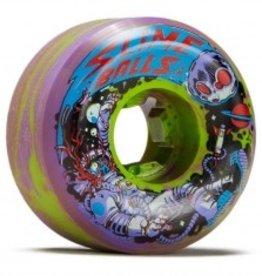 slime balls 54mm astros speed balls purple yellow swirl 99a wheels