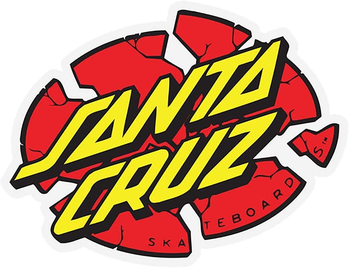 santa cruz broken dot 3in x 3in sticker