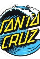 santa cruz wave dot 3in x 3in sticker