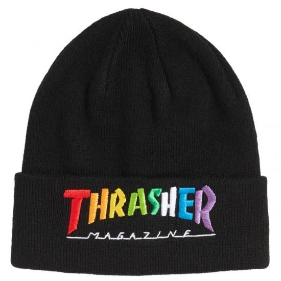 thrasher thrasher rainbow mag beanie