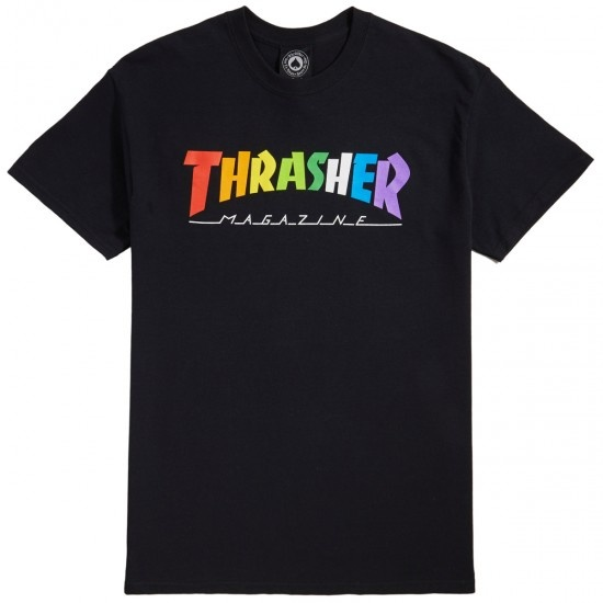thrasher thrasher rainbow mag tee