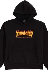 thrasher youth flame logo hoodie