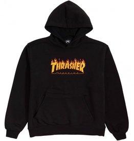 thrasher youth flame logo hoodie