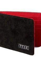 baker brand logo corduroy wallet