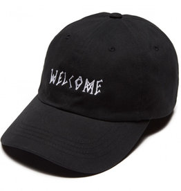 welcome skateboards welcome scrawl twill dad hat