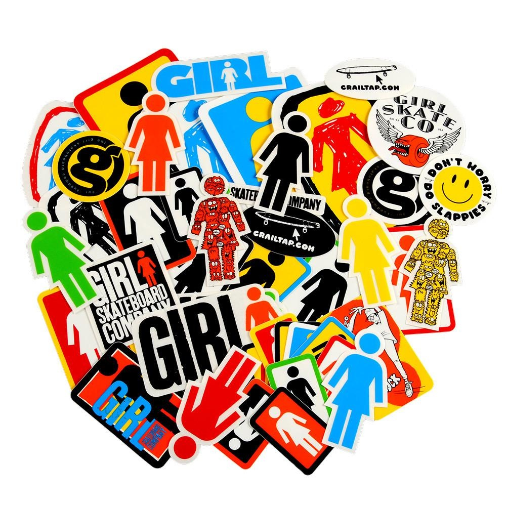 girl girl logo large sticker