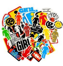 girl girl logo small sticker