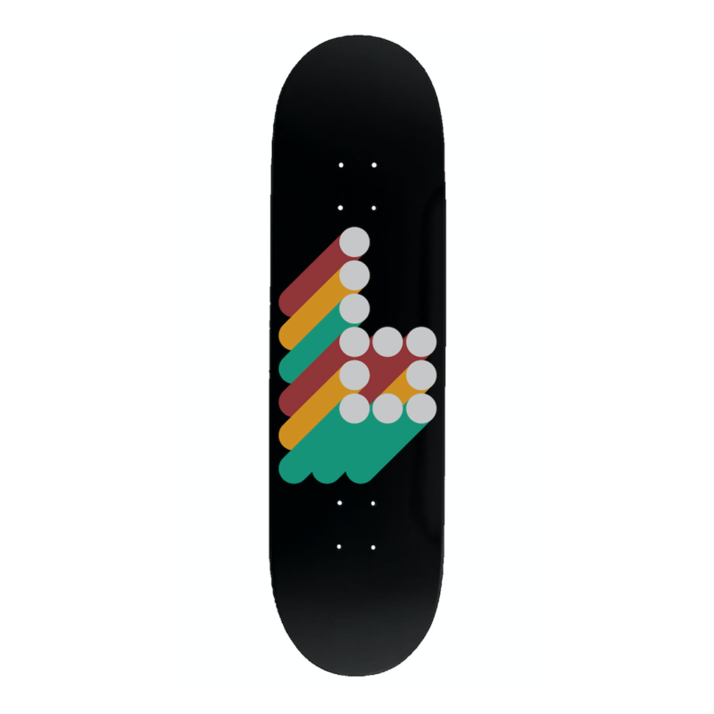 braille 3d b logo 8.0 deck