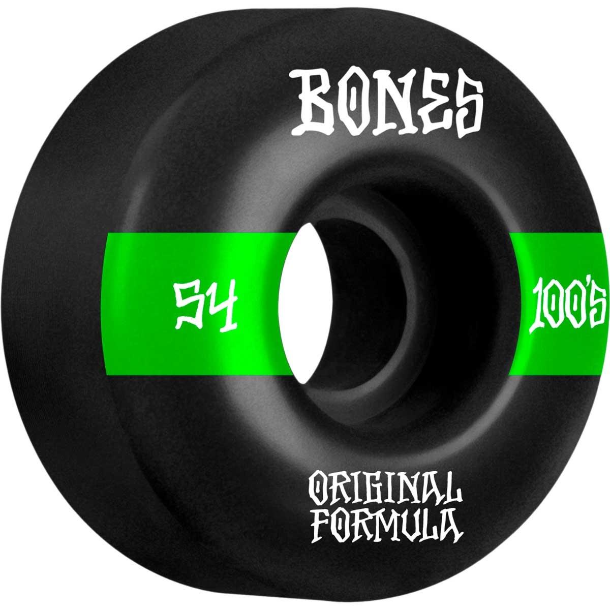 bones 100s v4 wide 54mm black wheels