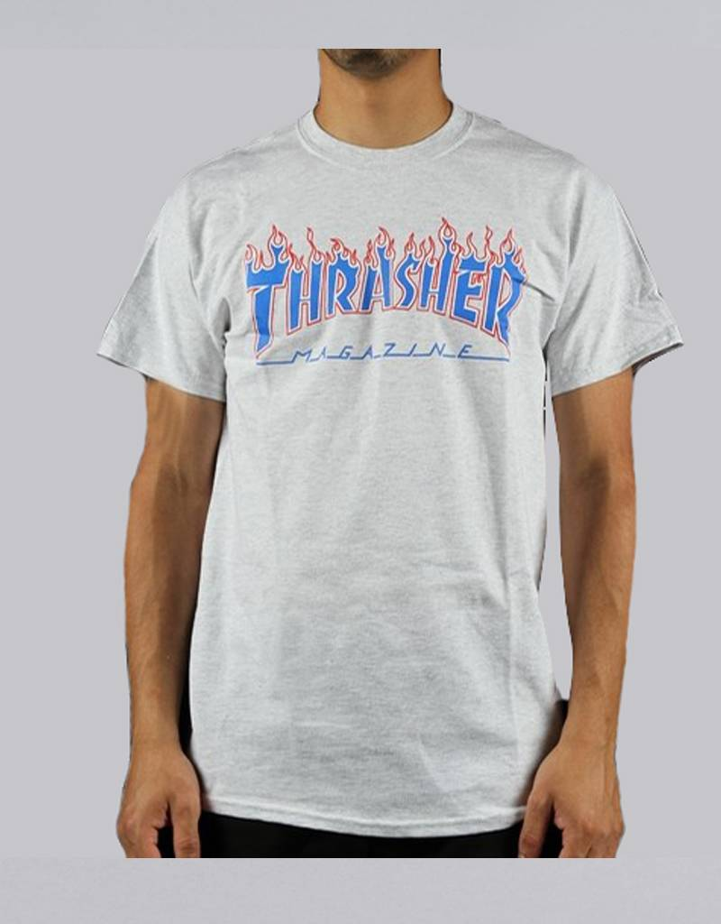 cb5d1d92a Thrasher patriot tee ash grey - RideFourEver