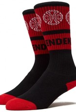 independent youth woven crosses crew socks black