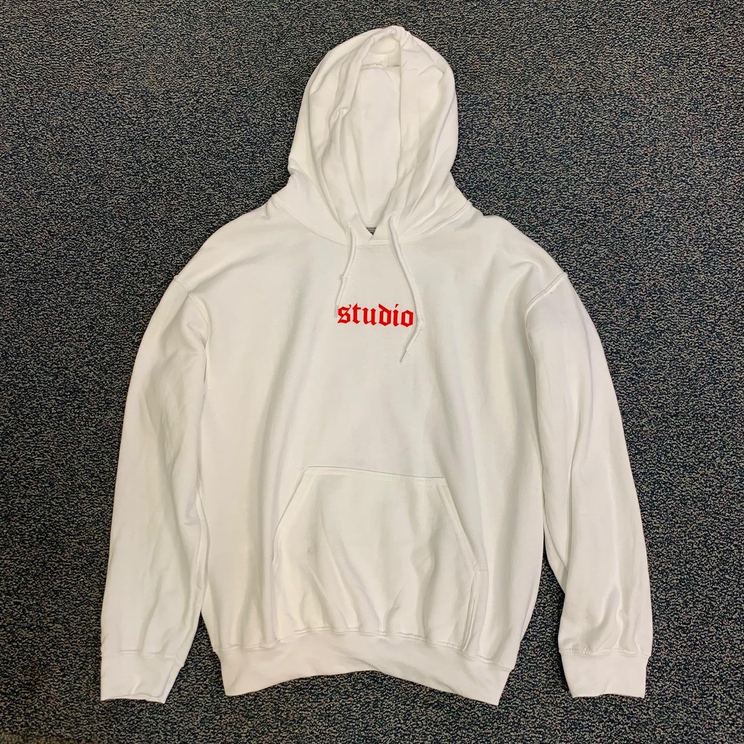 studio skate supply studio logo pullover hoodie