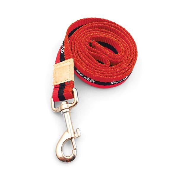chocolate dog leash and collar