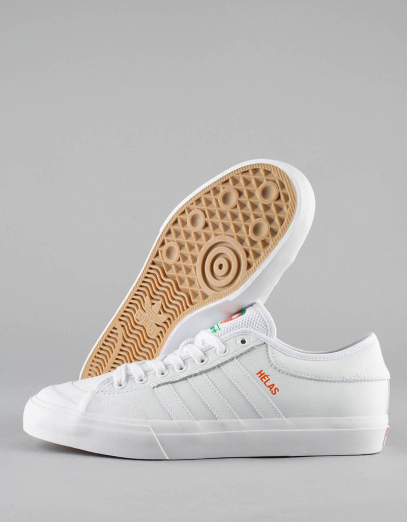 Adidas Skateboarding matchcourt x helas shoe white white orange