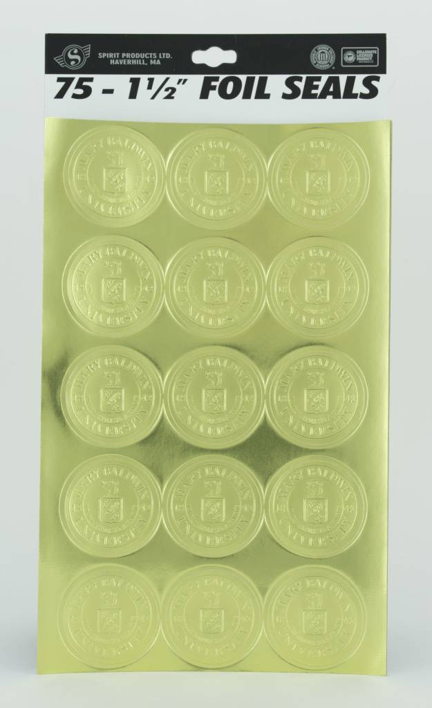 Spirit Products Gold Foil University Seals w/ adhesive (75 per package)