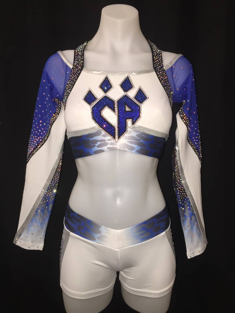 PLANO Cheetahs White Uniform Crop Top 2016-17