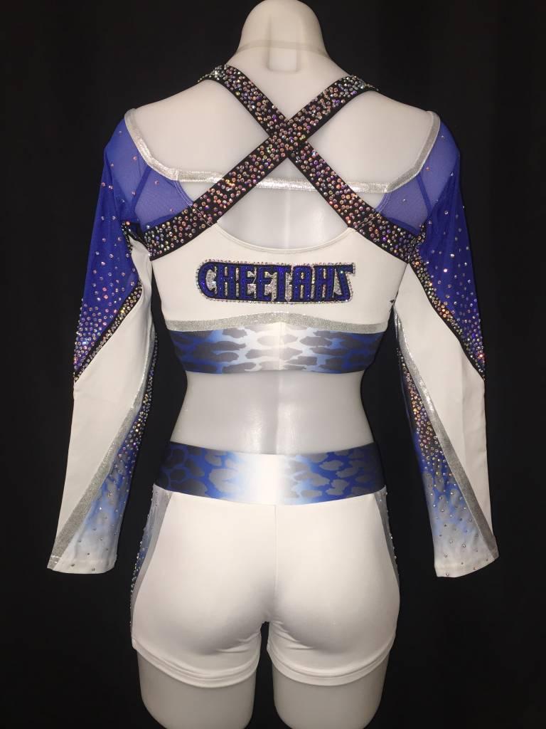 PLANO Cheetahs White Uniform Crop Top 2016-17