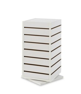 "Countertop revolving tower 12""x 12""x 25""H, white or maple"