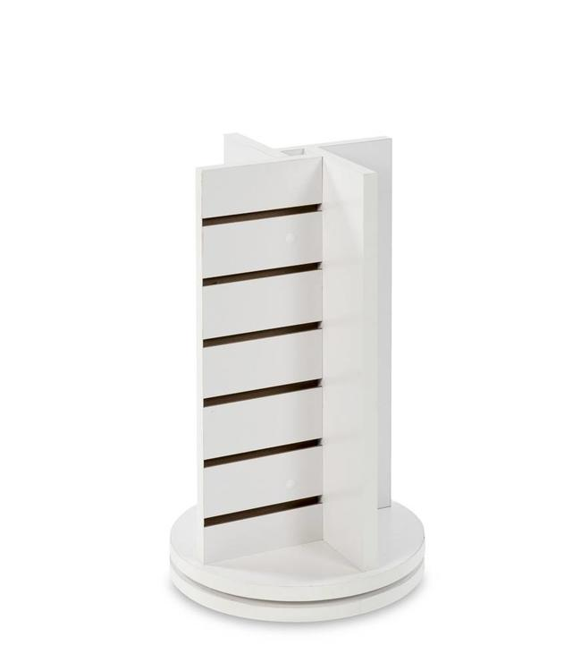"""Countertop revolving tower CROSS 12""""x 12""""x 25""""H, white or maple"""