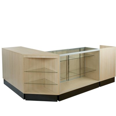 Glass display counters, panel side