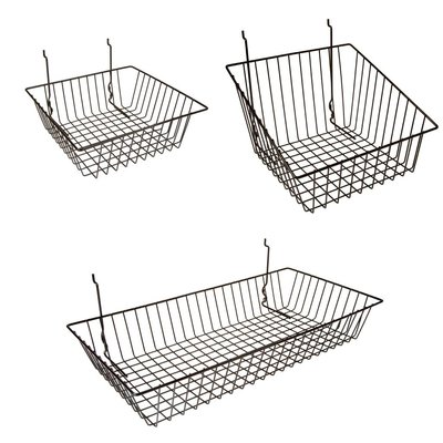 wire basket for grid panel