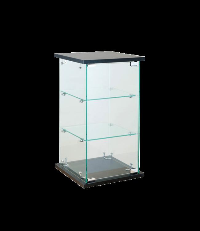 Présentoir tour de comptoir vitrée en verre sur verre économique