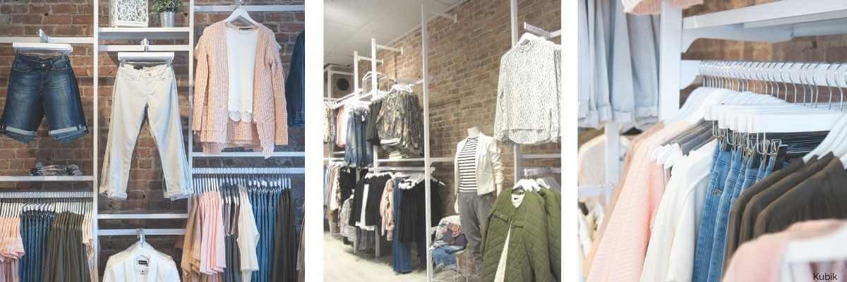 Image de boutique de vêtements pour dames avec système de crémaillères