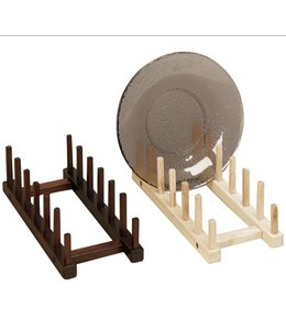 Wood stand plate easel, up to 6 plates