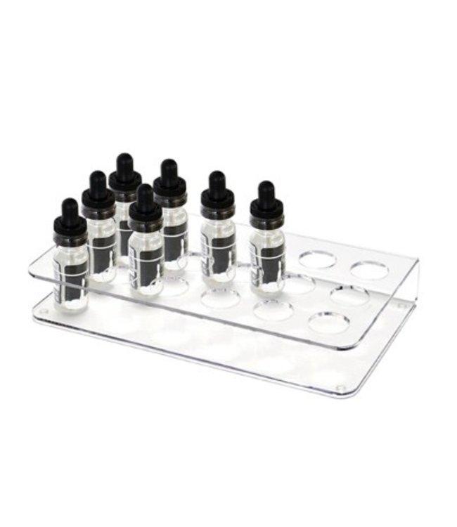 Mini-bottle display for e-cigarette