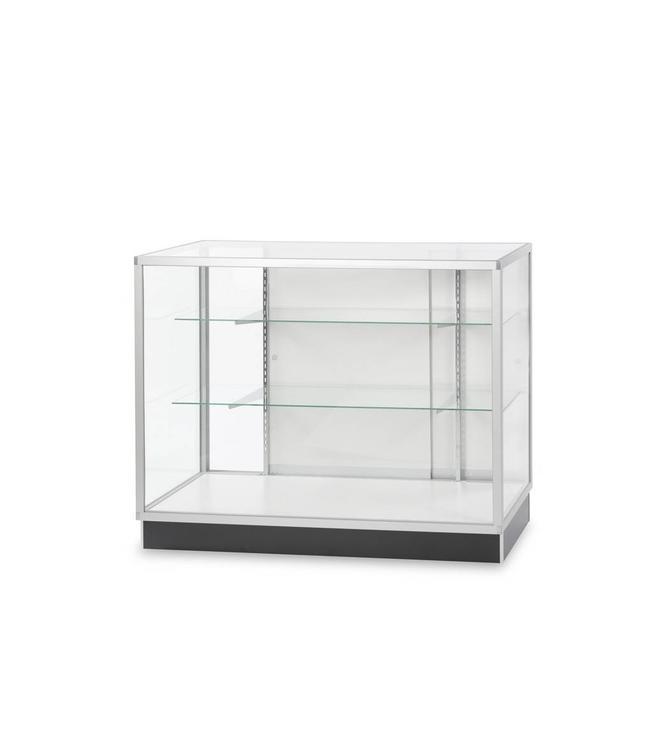 Economic full vision glass counter