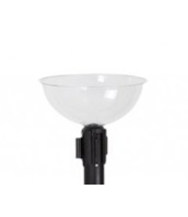 "5011-BOWL - Bowl plexiglass 12-3/4"" for crowd post"
