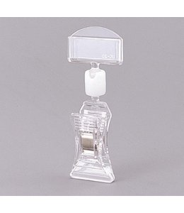 """Acrylic sign holder clear  with spring clamp, 2-3/4"""""""