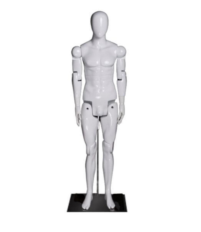 Articulated male mannequin