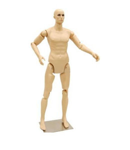 Articulated men mannequin