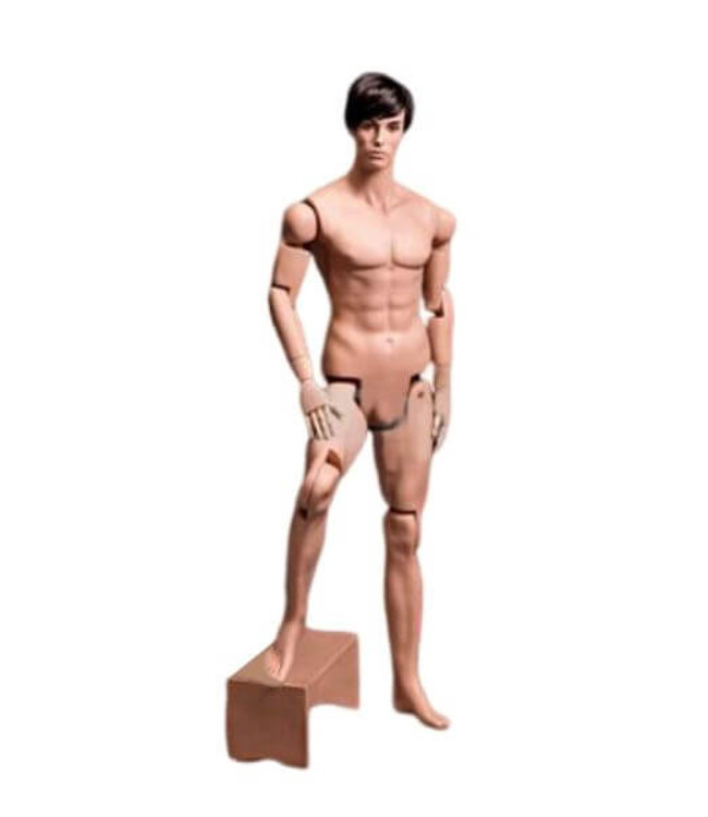 Fiberglass fleshtone articulated men mannequin