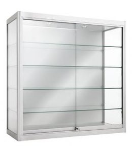 Aluminium  lit wallmount display case