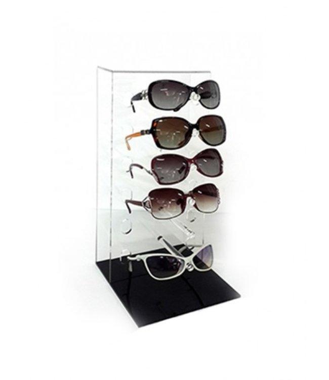 Présentoir de comptoir pour 6 paires de lunette en acrylique
